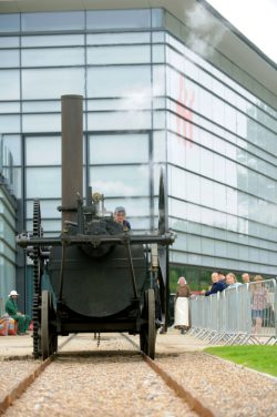 01.06.08. Swansea Waterfront Museum. Produce Market, Steam Engine. © WALES NEWS SERVICE